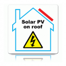 PV on Roof Hazard Label (Single)