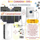 5KW CANADIAN SOLAR 595W POWERBOX 4.8KWH PACK