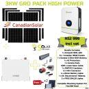 3KW GROWATT PACK HIGH POWER